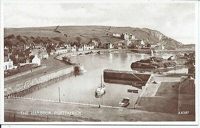 PORTPATRICK 1937 Postcard The Harbour Wigtownshire