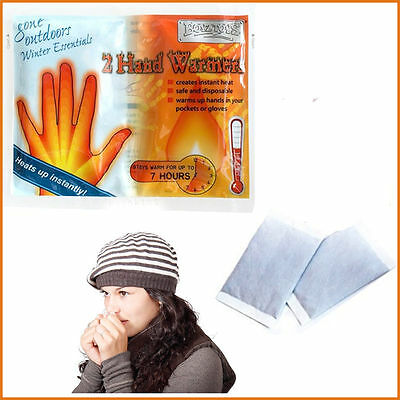Pack Of 2 Instant Winter Hand Warmers Great For Outdoor Activities