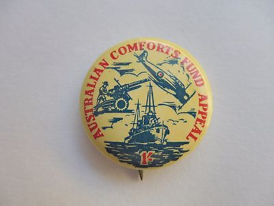 Wwii Australian Comforts Fund Appeal 1 Shilling Pin