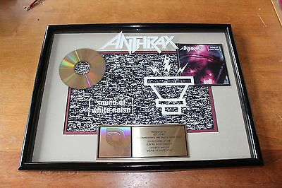 Anthrax - RIAA Gold CD Award / Sound Of White Noise / 500,000 Copies Sold