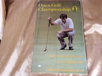 Official Programme from the 1983 Open Golf Championship from Royal Birkdale