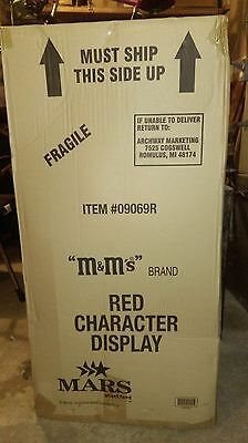 Red M&M Store 3' Display on Wheels Brand NEW In Original Box Toy Cooler