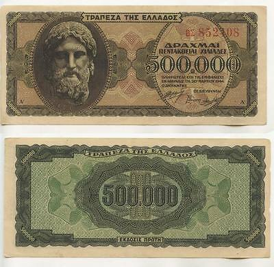GB242 - Banknote Griechenland 500.000 Drachmai 1944 TOP Pick#126 Greece