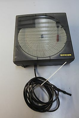 130s- (1) Used Dickson TH803 Temperature And Humidity Chart Recorder