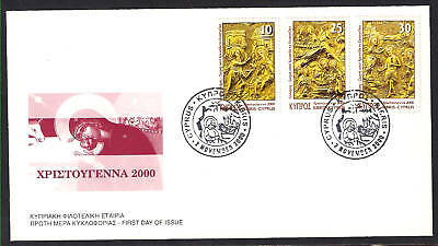 Cyprus 2000 Christianity Christmas Annunciation, Baptism, Unofficial Fdc