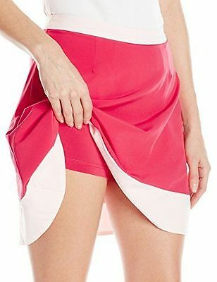 New Puma Golf Ladies Size- Large Flare ROSE RED Skirt 570563