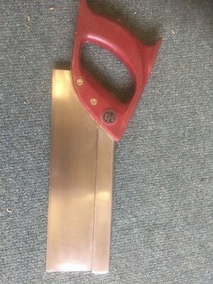 """Vintage 10""""  steel backed  tenon saw, by Spear & Jackson."""