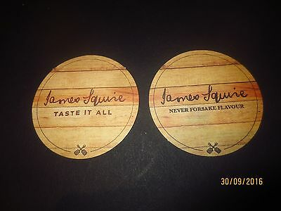 2 Different JAMES SQUIRE / GROSVENOR HOTEL, special issue BEER COASTERS