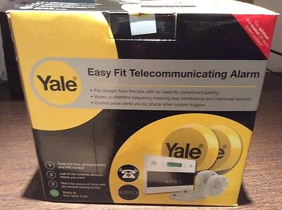 Yale Easy Fit Kit 2 Wireless Telecommunicating Home Alarm Kit Brand NEW