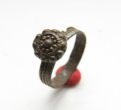 Antique Bronze Finger Ring With Image (NOW33)