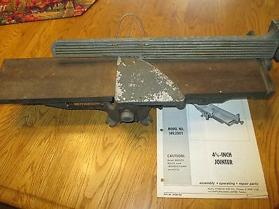 "Vintage Sears Craftsman 4 1/8"" Jointer Model 149.21871 w/owner's manual"