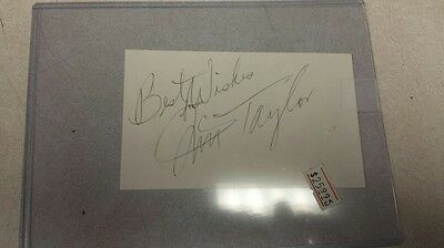 Green Bay Packers Jim Taylor Signed Index Card Hall Of Fame