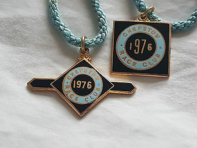 Chepstow 1976 Matching Pair   (Horse Racing Members Badges)