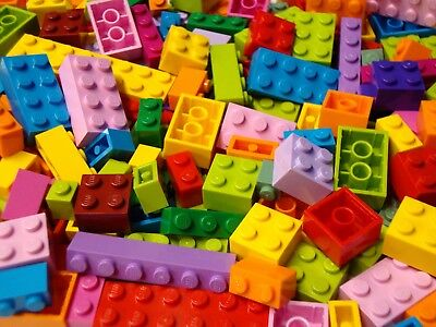 100 Lego Friends Girl Colors ONLY BRICKS BLOCKS Bulk Lot Pink Purple Lime+ Mix#1