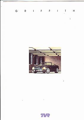 TVR Griffith 500 brochure (6 pages) - 1997 - mint condition