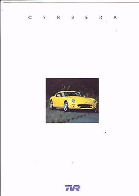 TVR CERBERA brochure (6 pages) - 1997 - mint condition
