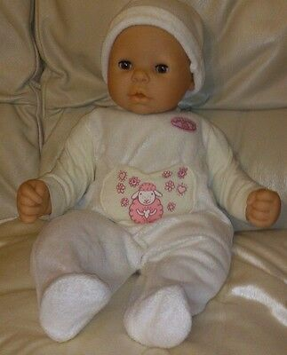 """Zapf Creation Baby Annabell 18"""" Doll Soft Body with brown eyes play or reborn"""