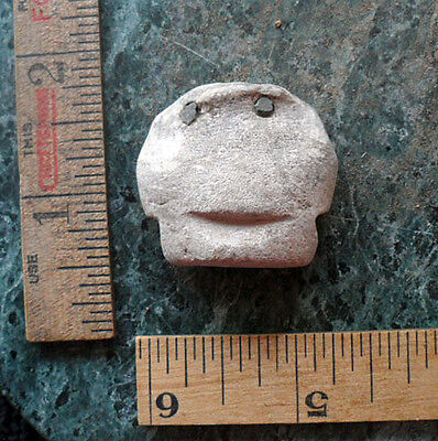 Pre Columbian Stone Head Jewelry SET-in EYES Fragment Antiquitiy from Estate