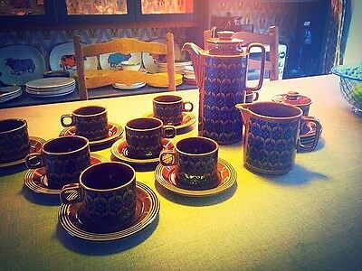 Hornsea Heirloom Coffee Set for 8 Immaculate. Beautifully Vintage,  Retro Home.