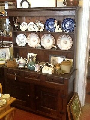 19Th Century Country Oak Dresser. Great Size And Colour.