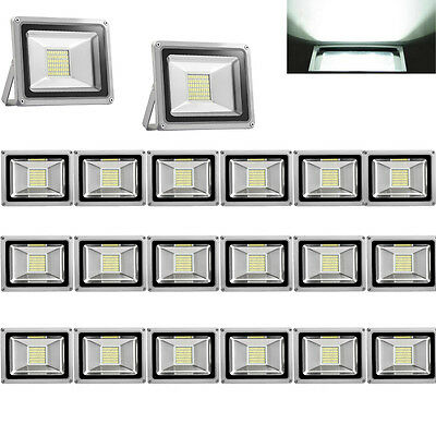 20X 30W LED SMD Flood Light Security Garden Lamp IP65 220V Cool White Outdoor
