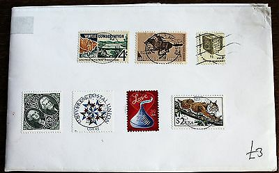 USA Large Envelope with Better Stamps – incl. $5 – Super Used (Le1)