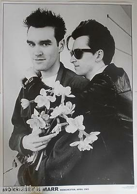 THE SMITHS Morrissey & Johnny Marr Manchester April 1983 33 X 23 Inch B&W POSTER