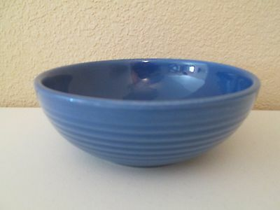 "Bauer Pottery Ring Blue Cereal Bowl -6 3/4"" 1205E"