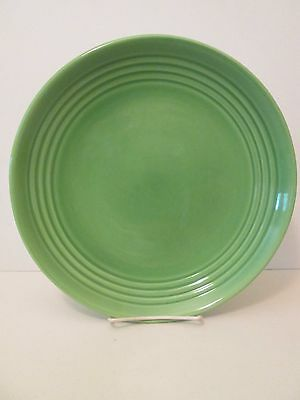 "Bauer Pottery Ring Green Dinner Plate -11"" 1205E"