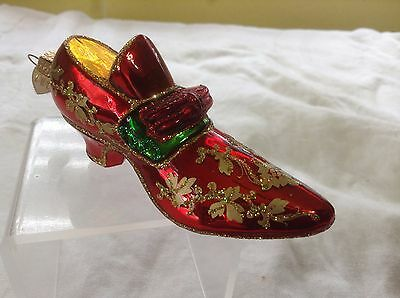 Old World Christmas Glass Shoe Ornament