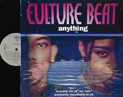 "CULTURE BEAT Anything 12"" VINYL Promo MTV MIX Tribal House EPIC 660025 6 @exclt@"