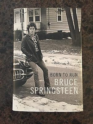 BRUCE SPRINGSTEEN Signed Born to Run Autobiography Hardcover Book 1st Edition