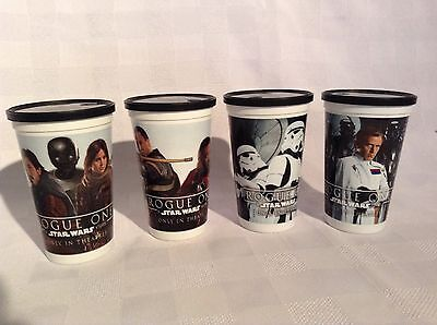Star Wars Rogue One Swiss Chalet Set of 4 Plastic Cups -Free Shipping Cda & USA