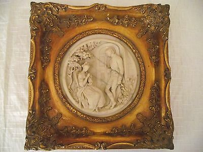 St. Petersburg Framed Marble Wall Picture Plaque.