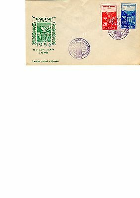 Turkey 1956 Dam first day cover