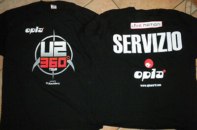 *u2* Staff/crew T-Shirt Italy Only *360° 2010*