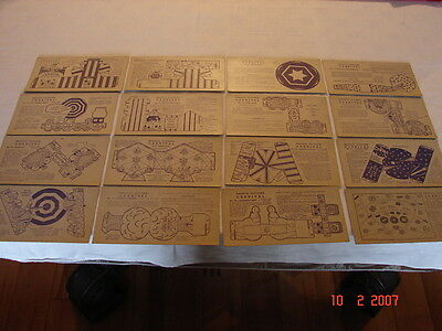 VINTAGE NABISCO SHREDED WHEAT ToyTown CARNIVAL Color & Cut Cards lot of 16