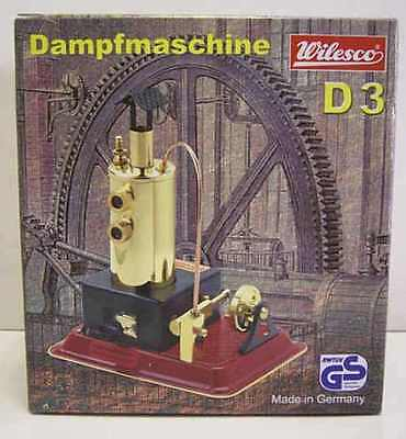 WILESCO D3 NEW TOY STEAM ENGINE WITH BRASS BOILER - Made in Germany - NEW