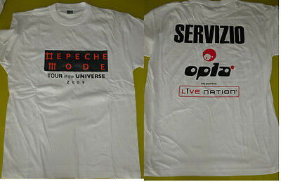 *depeche Mode* Staff/crew T-Shirt Italy Only *tour Of The Universe*