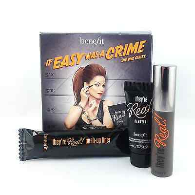 Benefit IF EASY WAS A CRIME... SET They're Real! MASCARA, PUSH-UP LINER, REMOVER