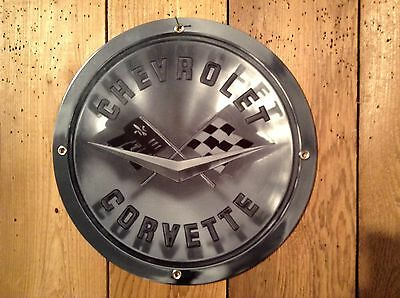 """Corvette Emblem 1958-1960 12"""" Metal Sign - US items are shipped from WA"""