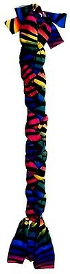 Tough-1 Colorful Rainbow Zebra Lycra Braid in Tail Bag Horse Tack Equine