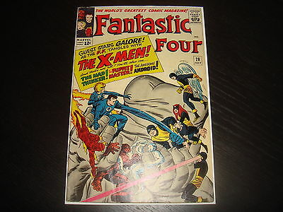 FANTASTIC FOUR #28 X-Men crossover  Silver Age  Marvel Comics 1964 super FN+