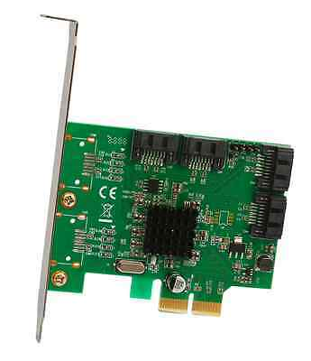 Syba SATA III 4 Port PCI-e 2.0x 2 Card with Marvell HyperDuo RAID Mode Support a