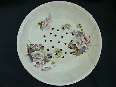 Collectable perforated floral strainer bowl