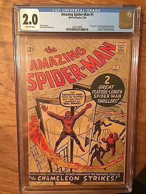 Amazing Spider-Man  #1  Cgc 2.0  Off White Pages