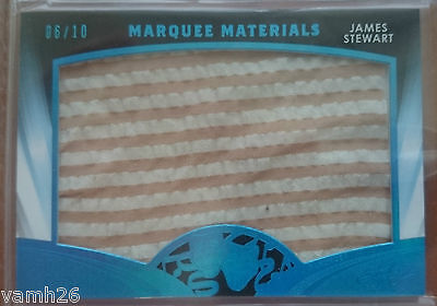 2016 Pop Century James Jimmy Stewart 6/10 Marquee Materials Authentic Blue Jumbo
