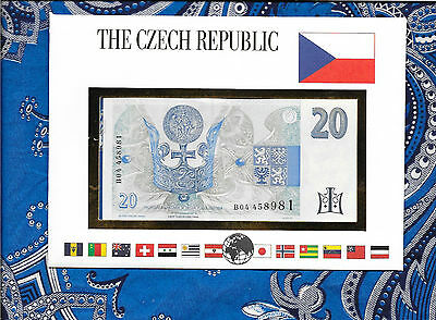 E Banknotes of All Nations Czech 1994  20 Korun P10a UNC Prefix B