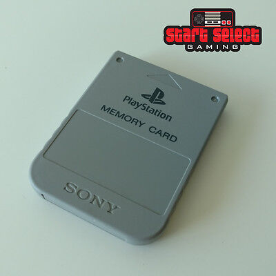 Official Memory Card Grey Gray Genuine PS PS1 PSX PlayStation SCPH-1020 1 MB
