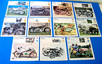 Vintage !!! Vincent & Others  Motorcycles 11 Picture Lot( Made In Great Britain)